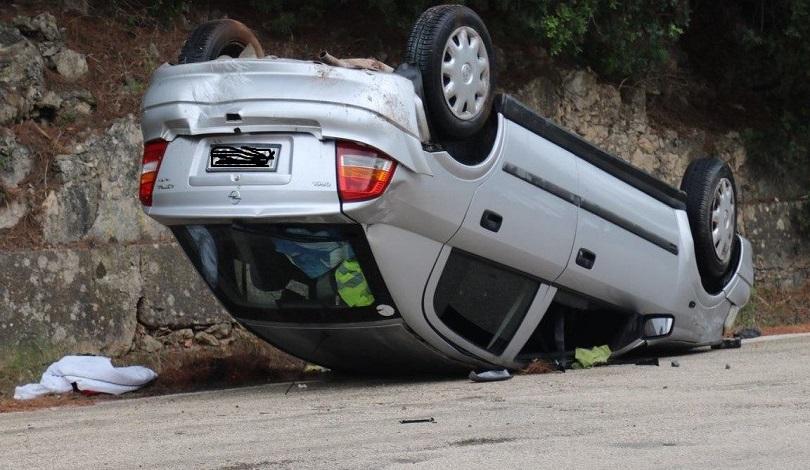 Κρήτη: Ανατροπή αυτοκίνητου λόγω ολισθηρότητας | Kriti24.gr